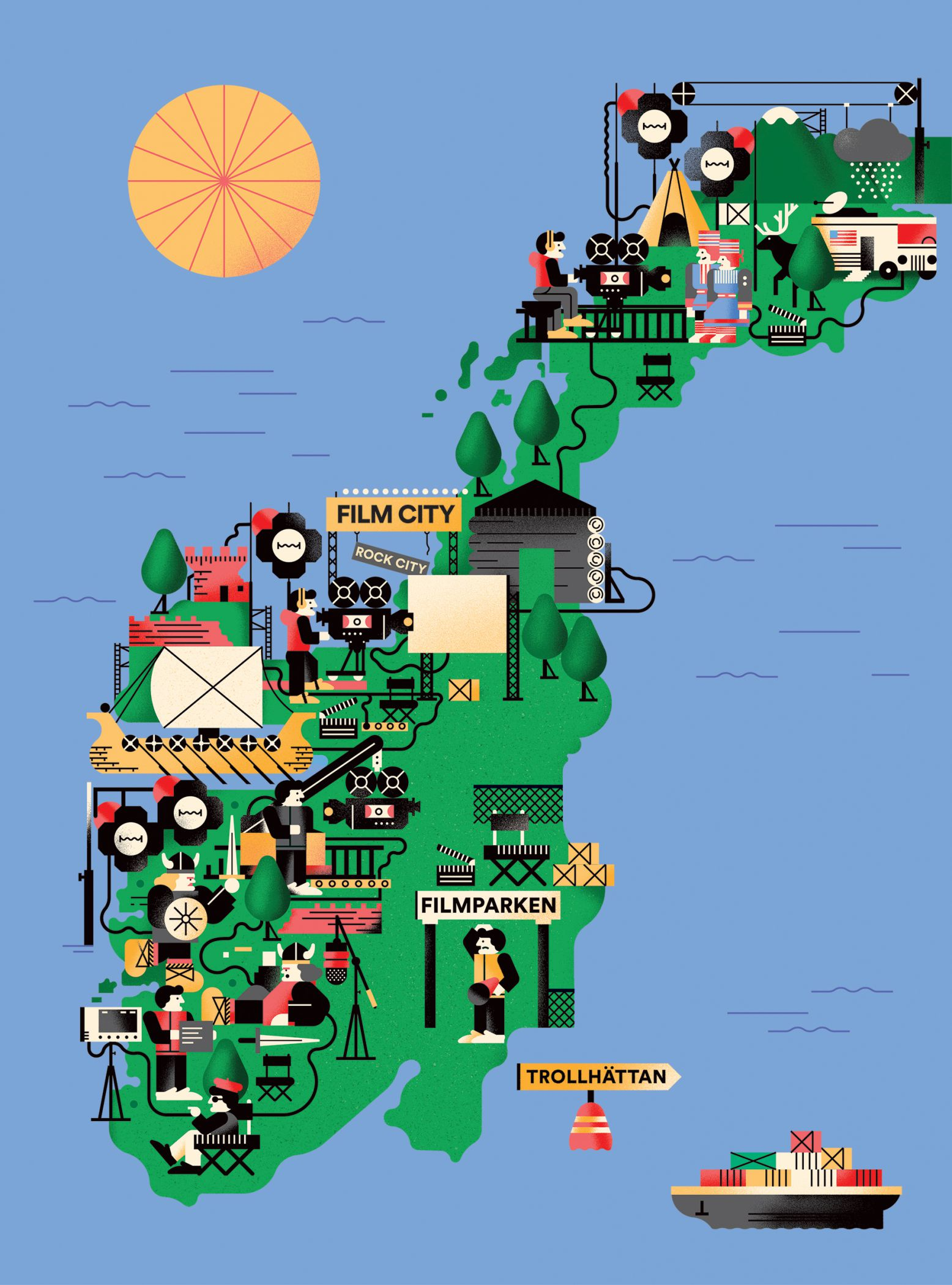 Norway Film Map Bratislav Milenkovic - Norway map picture